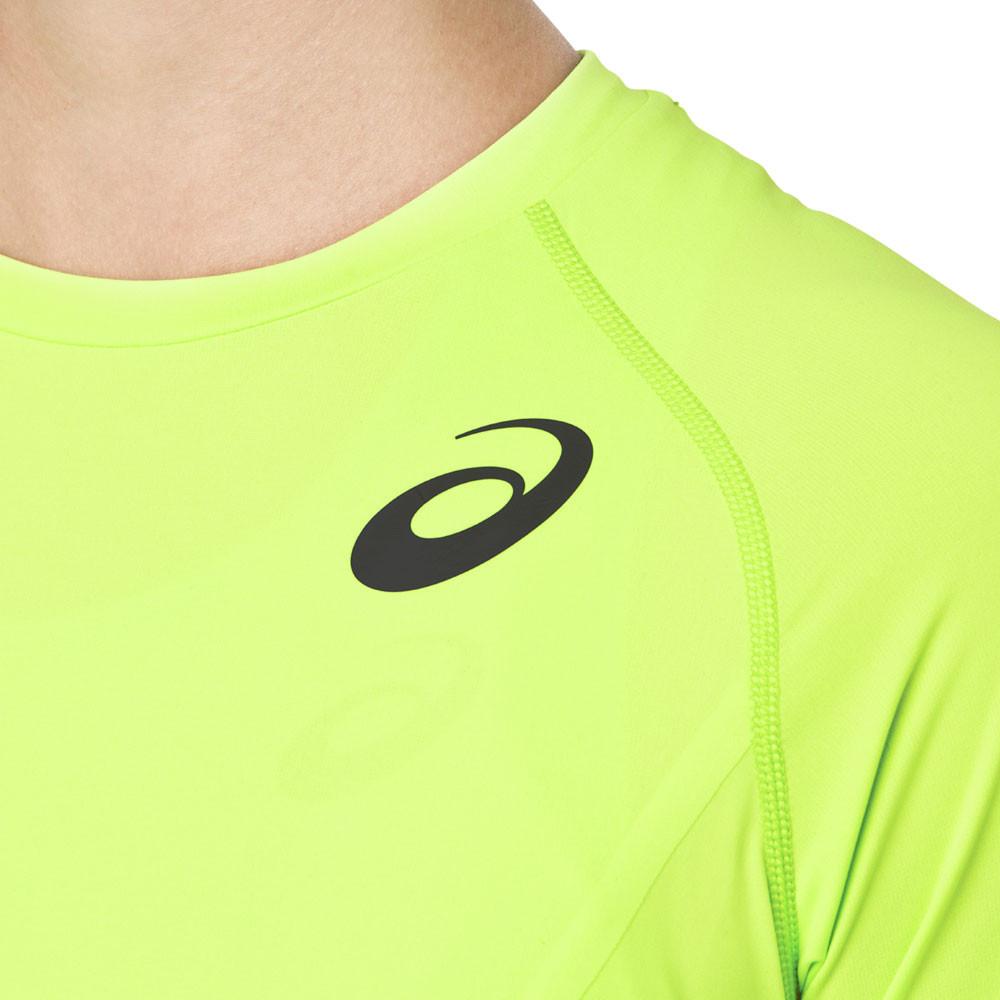 Détails sur Asics Femmes Moving Manche Courte T Shirt Tee Top Haut Vert Sport Gym Jogging