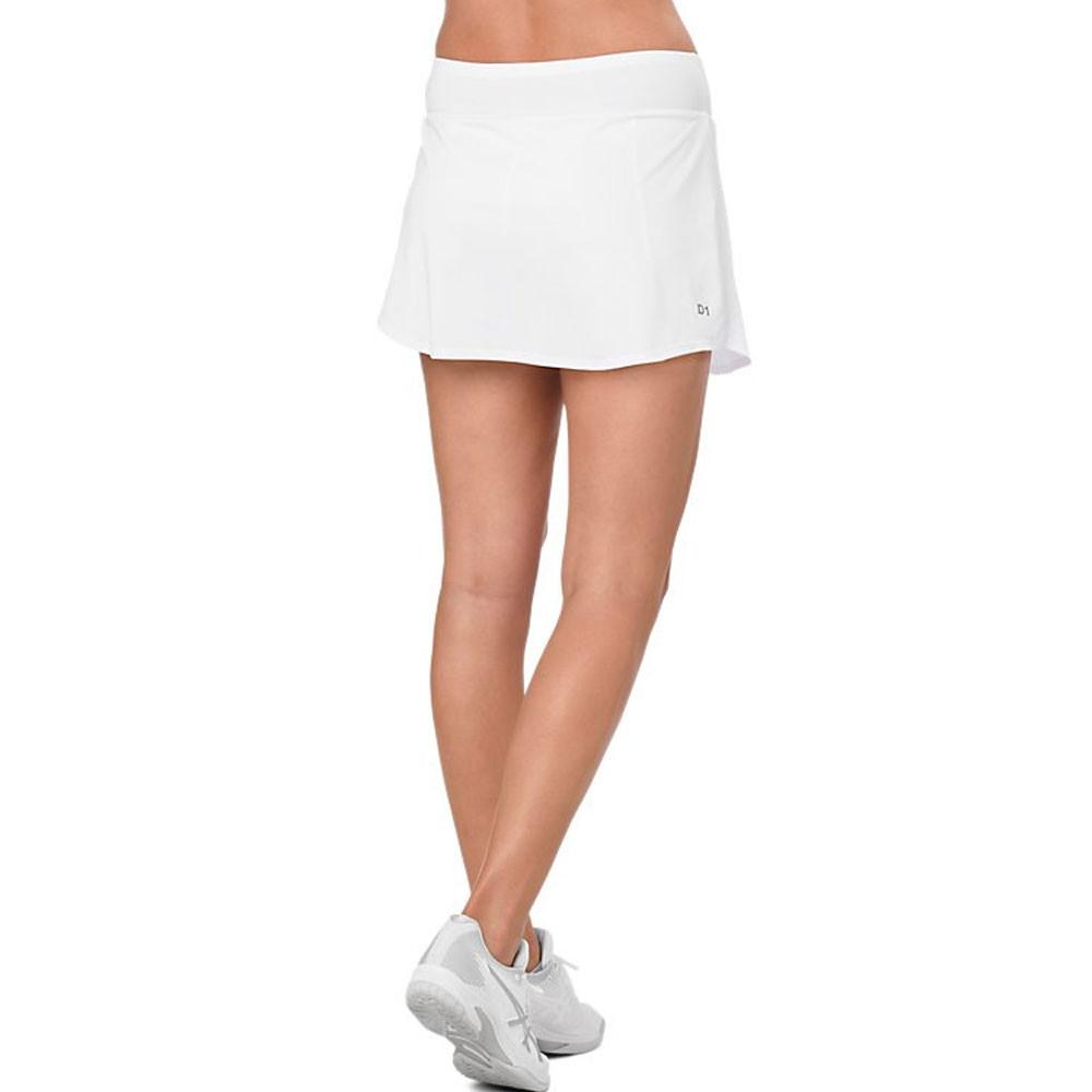 Detalles de Asics Mujer Tenis Skort Blanco Deporte Transpirable Ligero
