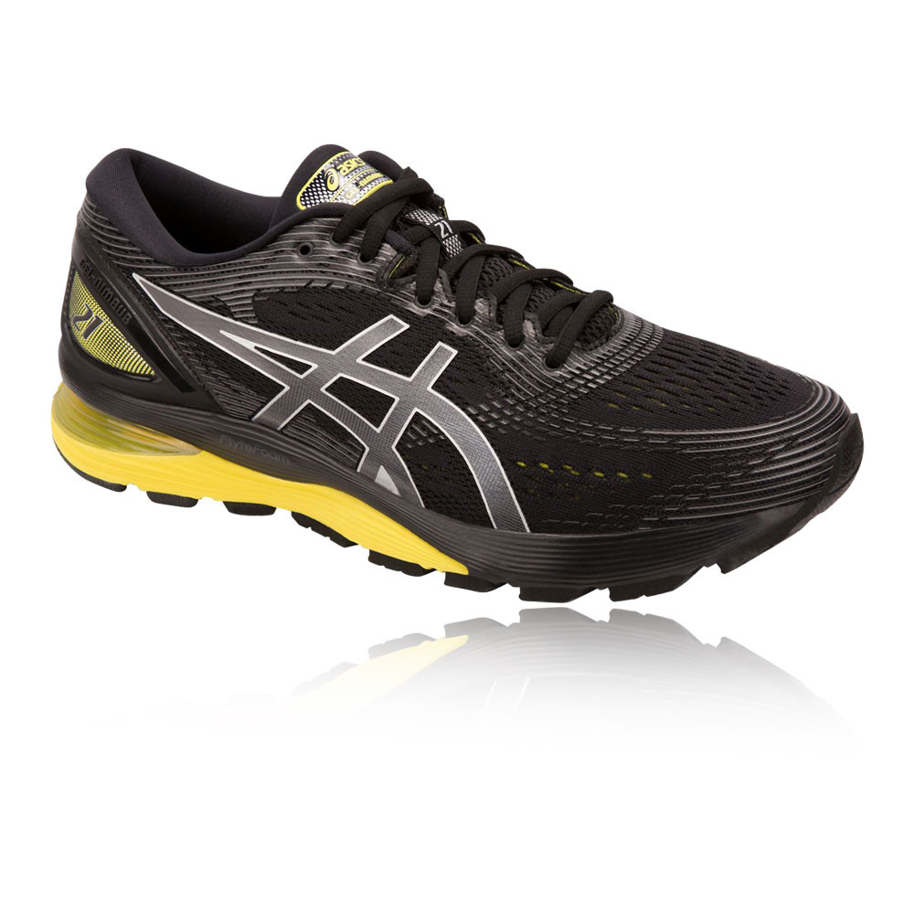 1b9fbb41e Asics Hombre Gel-nimbus 21 Correr Zapatos Negro Deporte Transpirable Ligero