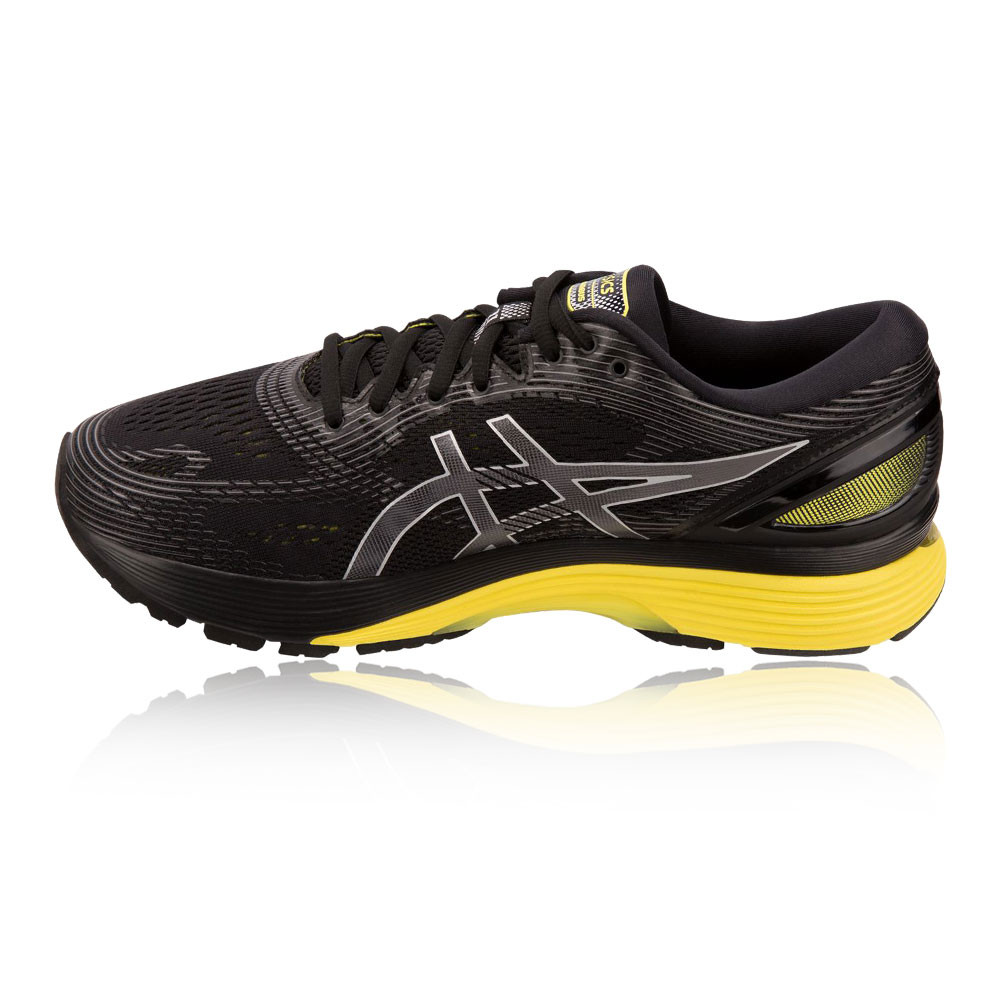 65f9ee147 Asics Hombre Gel-nimbus 21 Correr Zapatos Negro Deporte Transpirable Ligero
