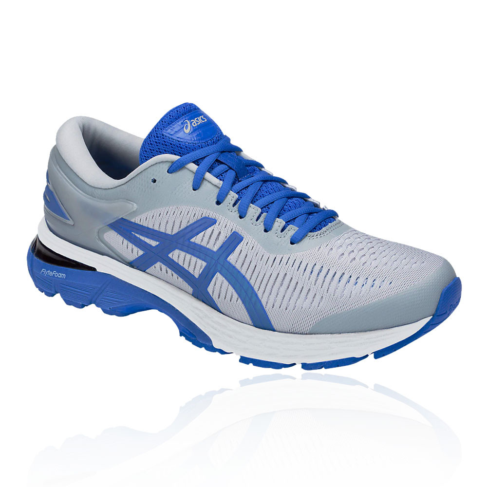 f491fcf8da1 Asics Mens Gel-Kayano 25 Lite-Show Running Shoes Trainers Sneakers Blue Grey