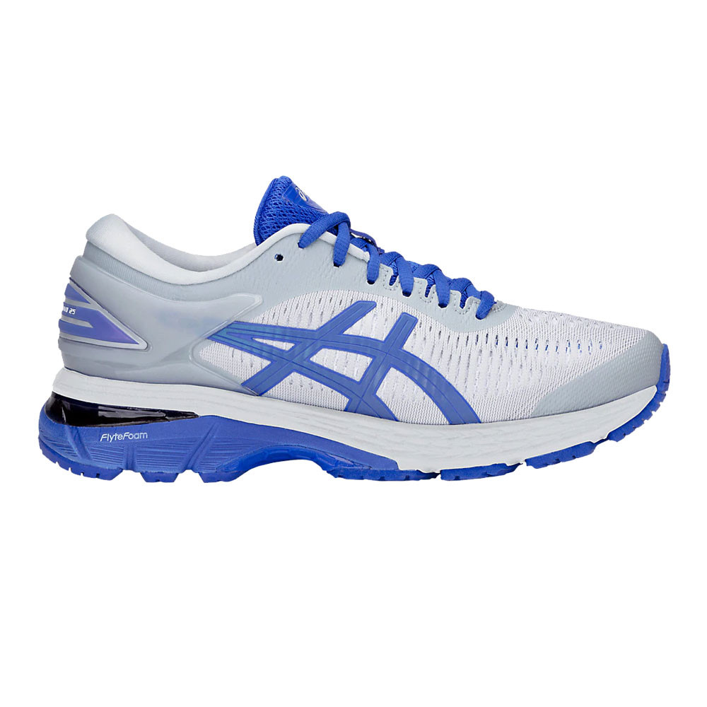 88560a4fda5 Asics Mujer Gel-kayano 25 Lite-show Correr Zapatos Azul Gris Deporte ...