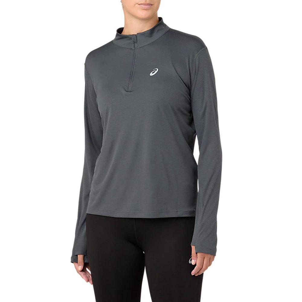 ASICS Silver Half Zip Women's Long Sleeve Top