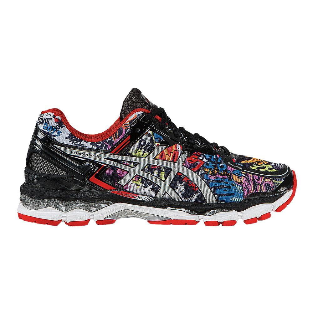 Detalles de Asics Hombre Gel kayano 22 Nyc Correr Zapatos Zapatillas Negro Deporte