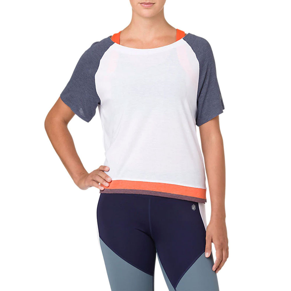 20bc9449d8e672 Details about Asics Womens Gel-Cool 2 Short Sleeve T Shirt Tee Top White  Sports Running