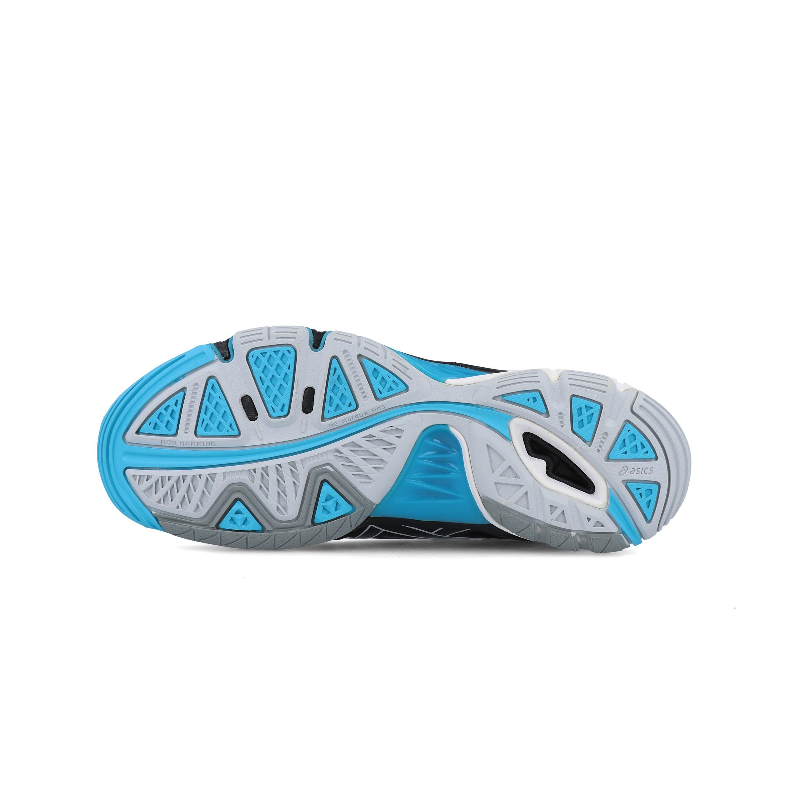 Dettagli su ASICS Donna Gel Volley Elite 2 Scarpe da Ginnastica Interne Sala Sport Nero Blu