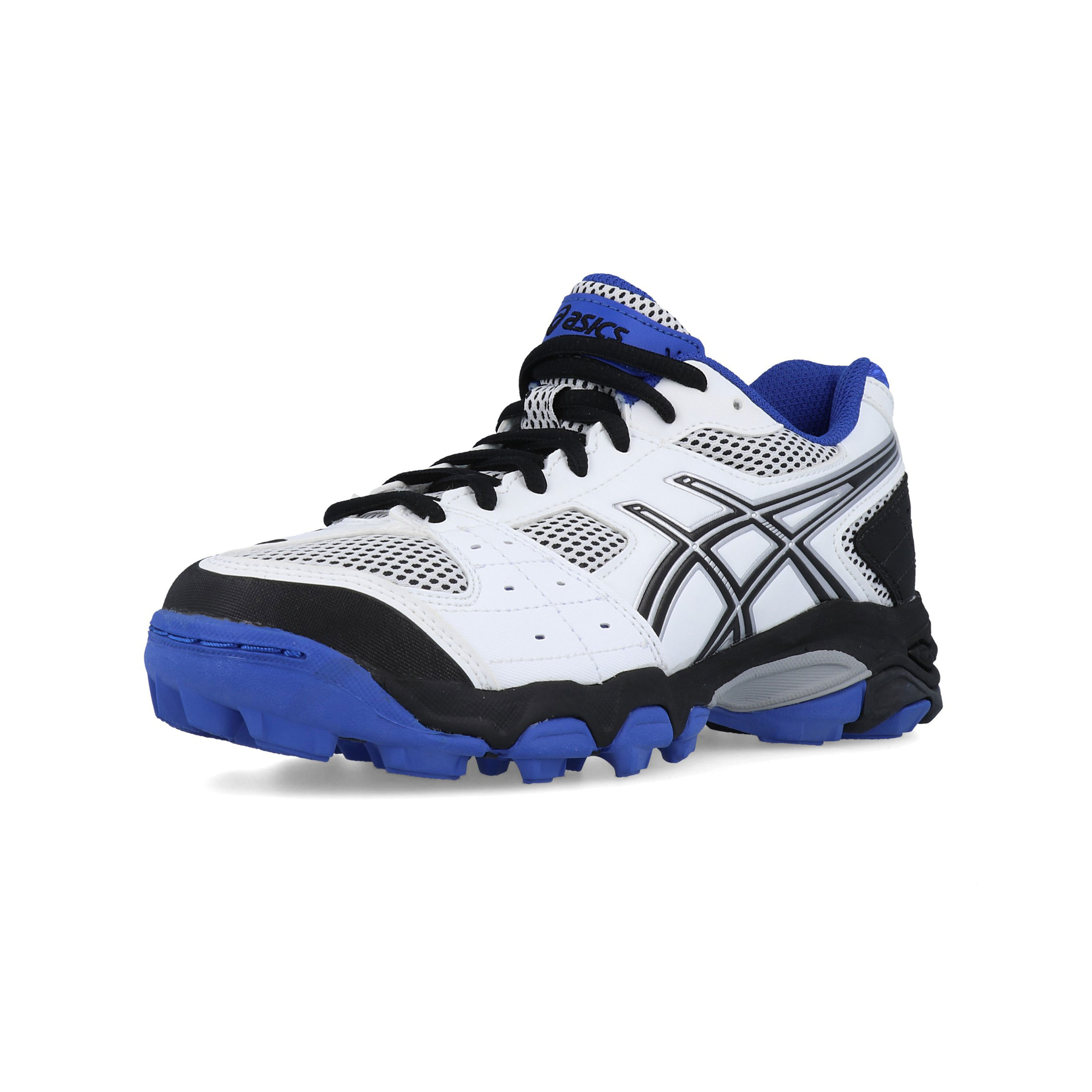 14c9fdf865c61 Asics Enfant Gel Blackheath 4 Gs Hockey Chaussures De Sport Baskets Blanc