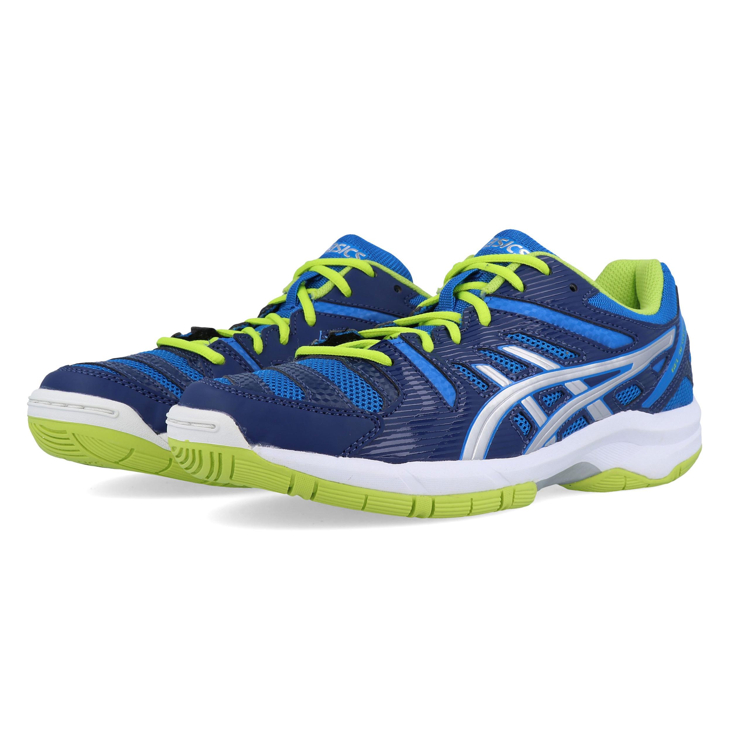 pourtant pas vulgaire Acheter Authentic meilleure collection Details about Asics Junior Gel-Beyond 4 Indoor Court Shoes Blue Sports  Badminton Handball