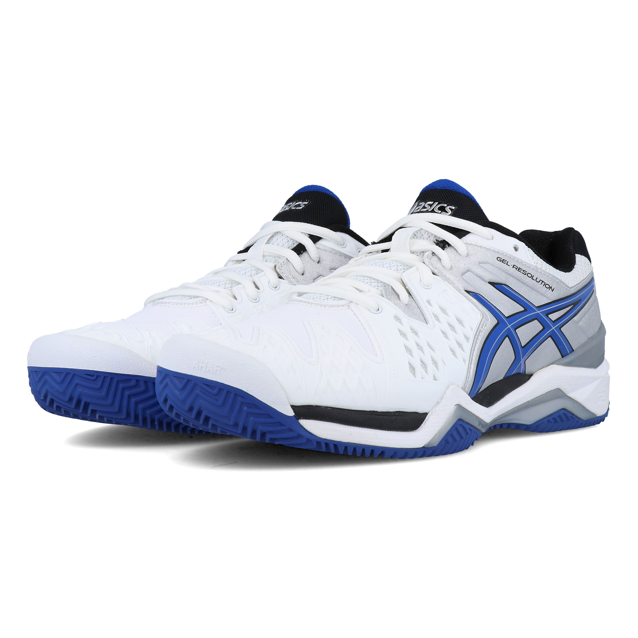 Details about Asics Mens Gel-Resolution 6 Clay Court Tennis Shoes White  Sports Breathable
