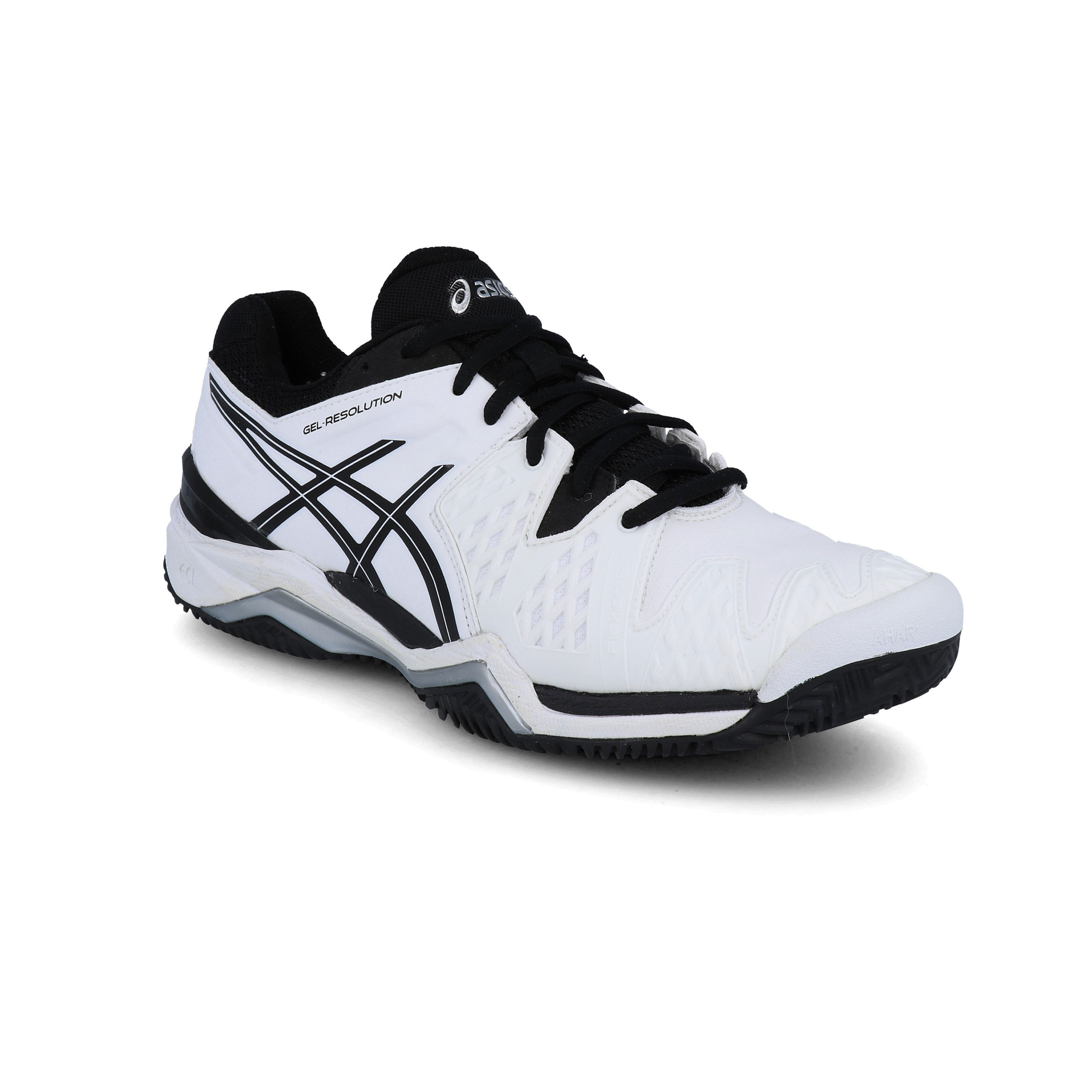 top fashion 1270f 0e3c2 Asics Mens Gel-Resolution 6 Clay Court Tennis Shoes White Breathable