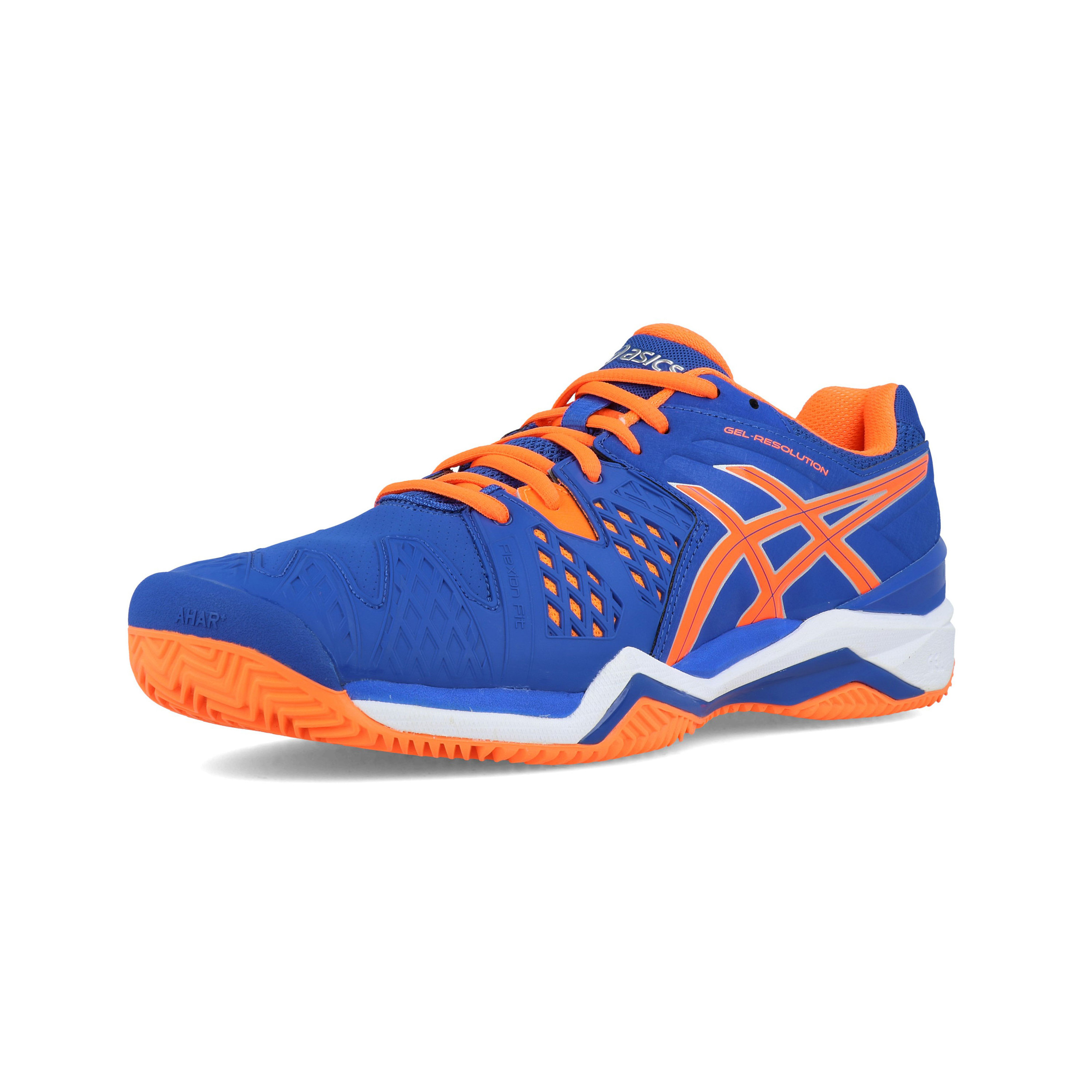 big sale f74c7 abdb4 Asics Mens Gel-Resolution 6 Clay Court Tennis Shoes Blue Sports Breathable