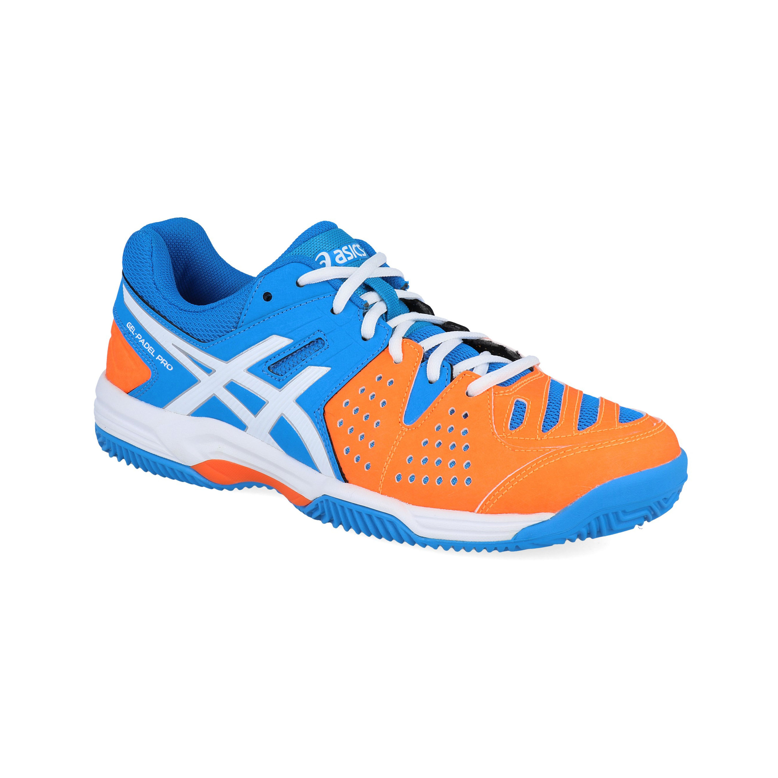1138e8d225443a Asics Mens Gel-Padel Pro 3 Tennis Shoes Blue Orange Sports ...