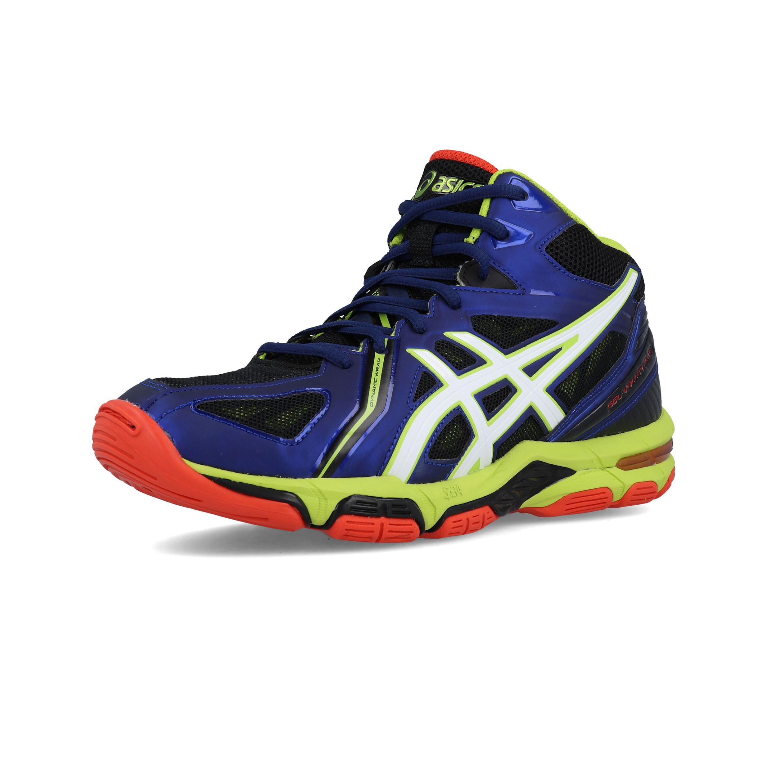 Détails sur Asics Homme Gel Volley Elite 3 MT Cour Chaussures Bleu Sports Handball Volley ball afficher le titre d'origine