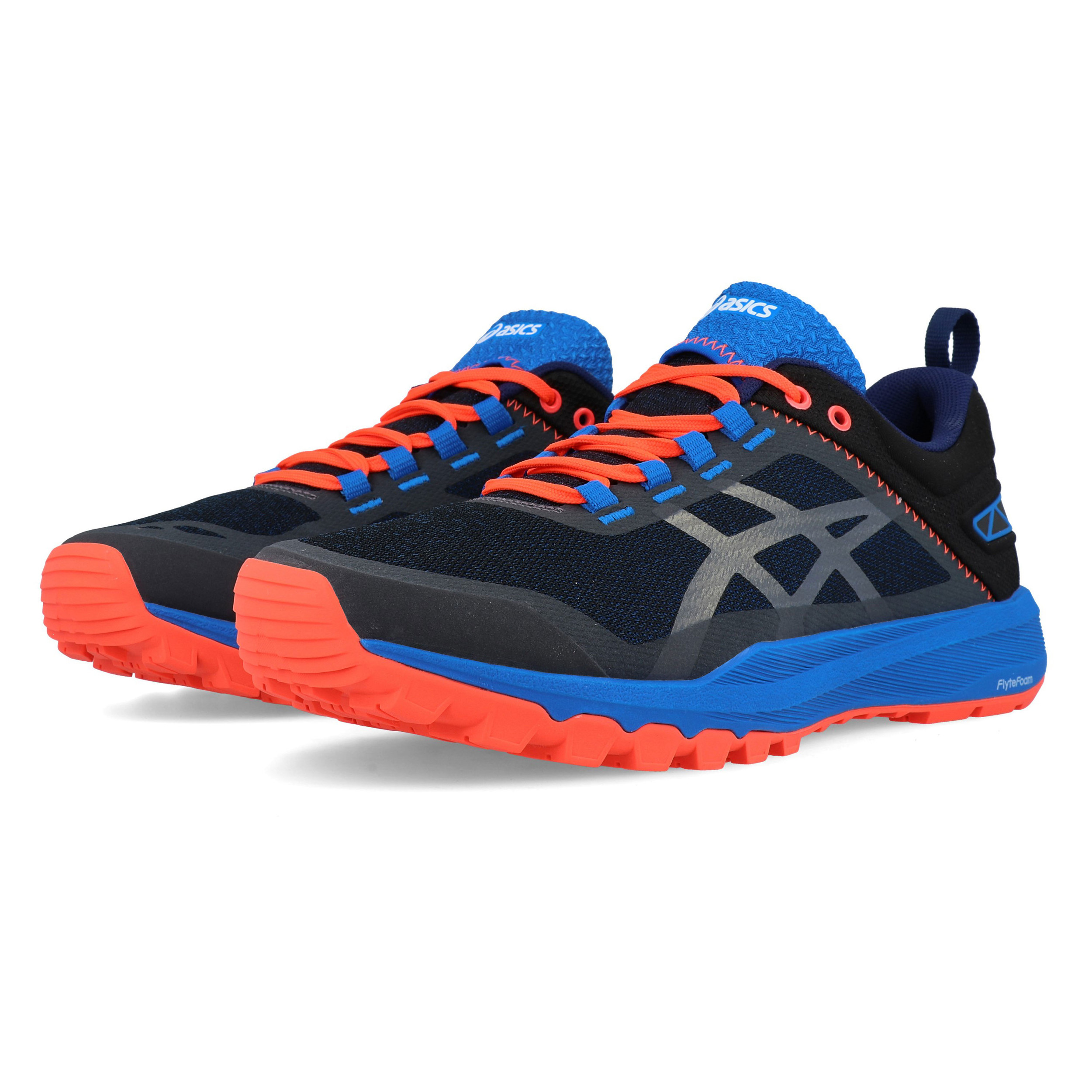 Details about Asics Mens FujiLyte XT Trail Running Shoes Trainers Black Blue Sports