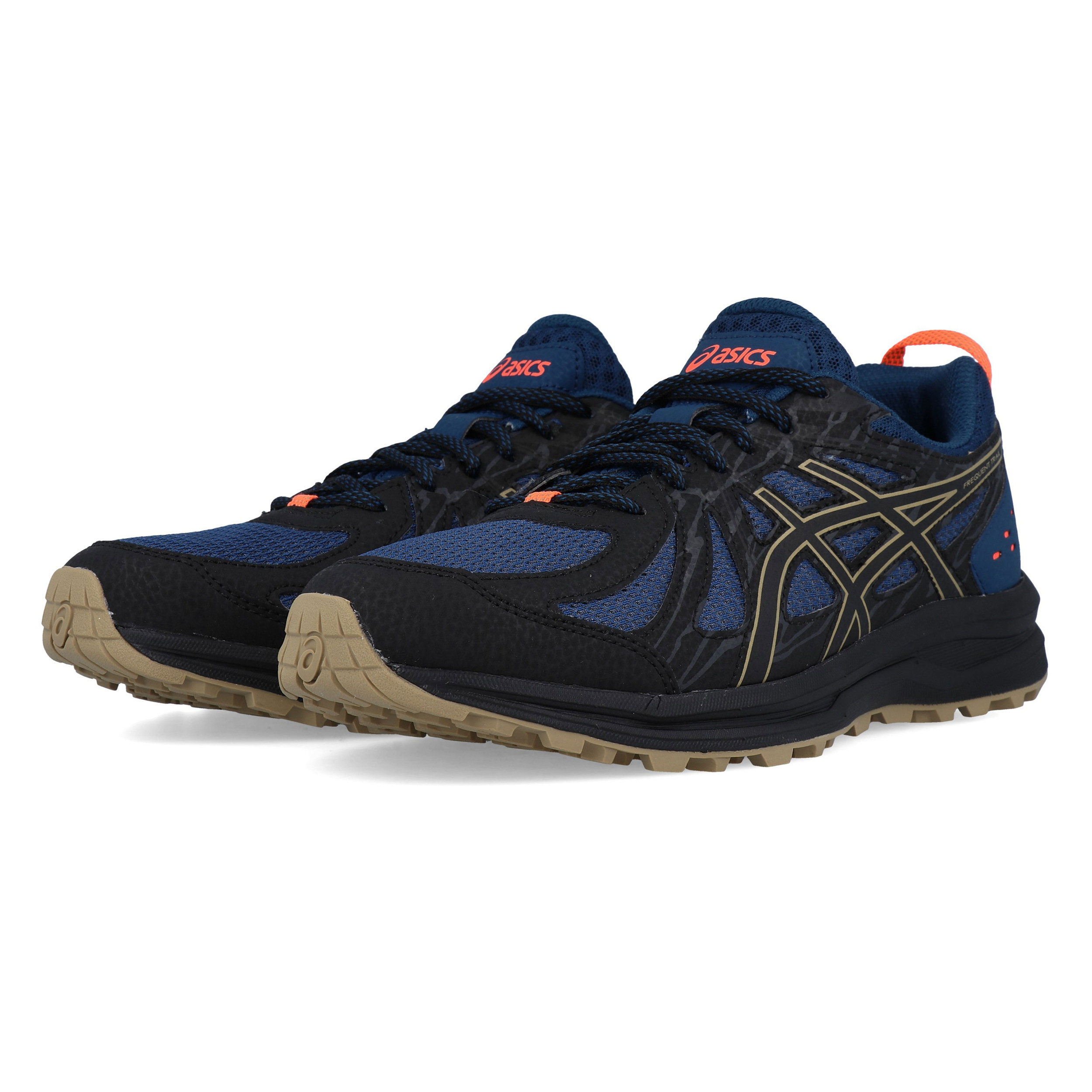 Details about Asics Mens Frequent Trail Running Shoes Trainers Navy Blue Sports Breathable
