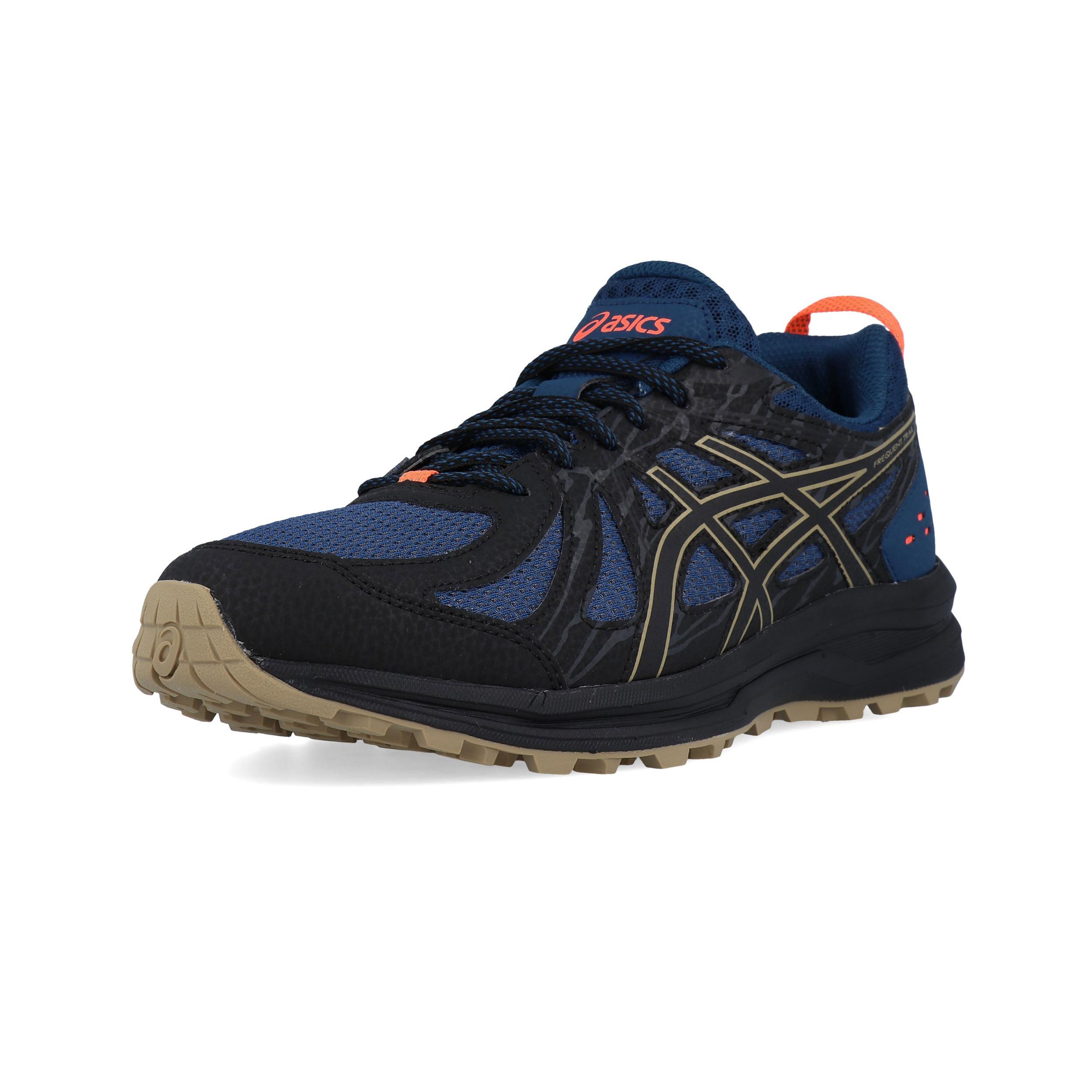 Dettagli su ASICS Uomo Frequent Trail Scarpe Da Corsa Ginnastica Sport Sneakers Blu Marino