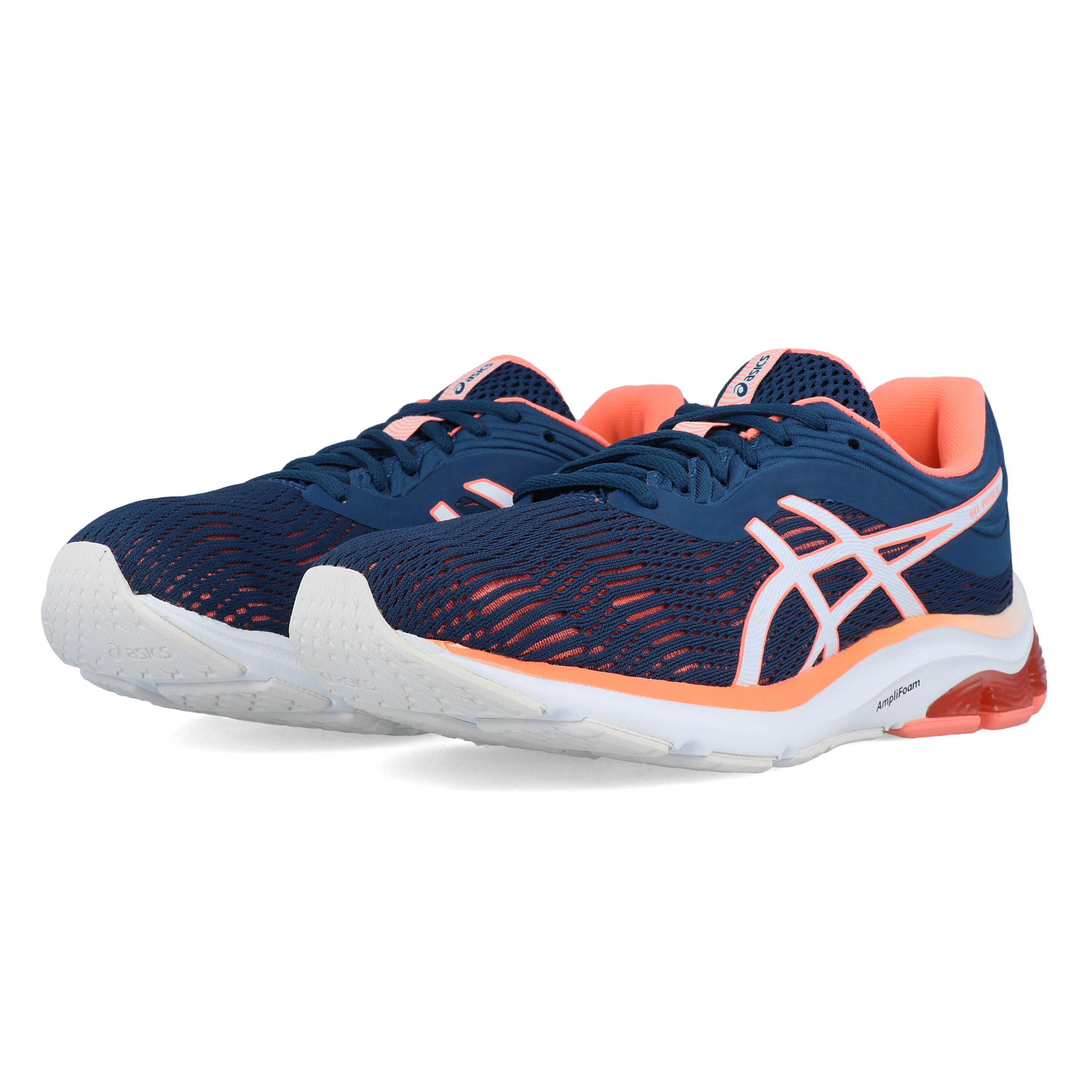 Details zu Asics Womens Gel Pulse 11 Running Shoes Trainers Sneakers Navy Blue Sports
