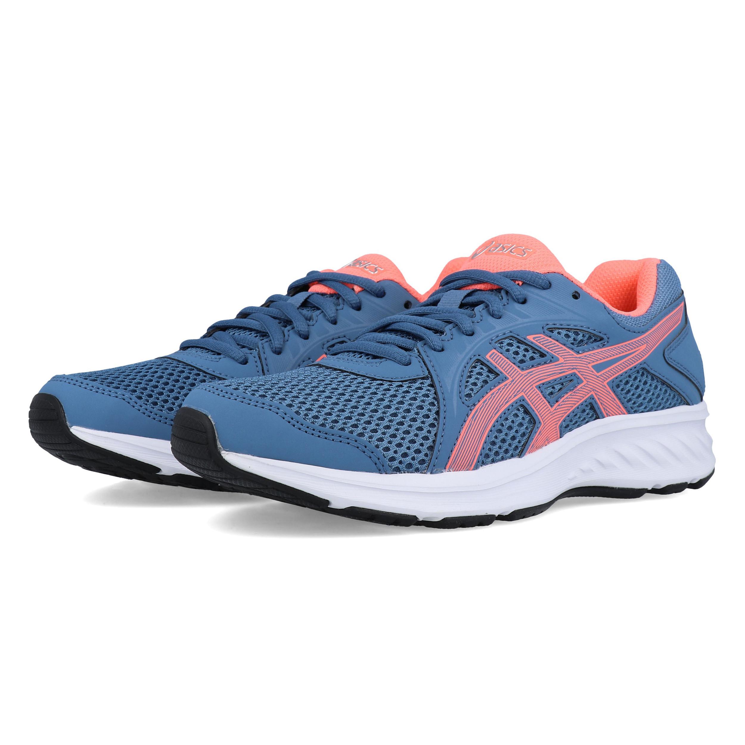 Dettagli su ASICS Donna Jolt 2 Scarpe Da Corsa Ginnastica Sport Sneakers Blu Rosa