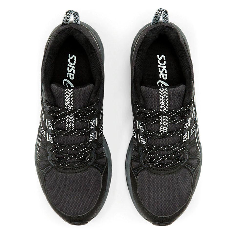 Detalles de Asics Mujer Gel Venture 7 Sendero Correr Zapatos Zapatillas Negro Deporte
