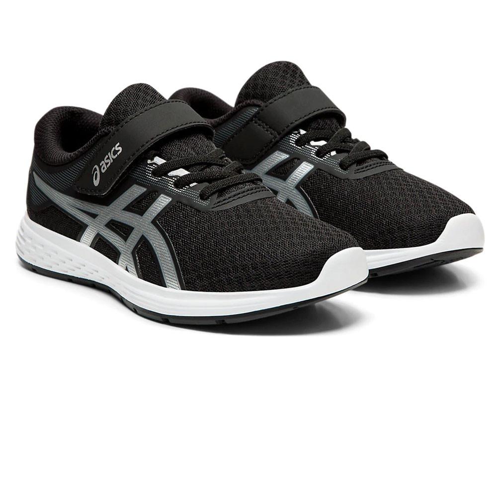 Detalles de Asics Chicos Patriot 11 PS Correr Zapatos Zapatillas Negro Deporte