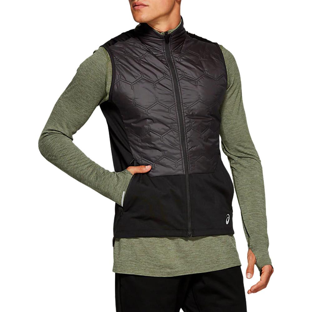 Détails sur Asics Hommes Hiver Jogging Veste Sans manches Gilet Sport Noir Zip Intégral