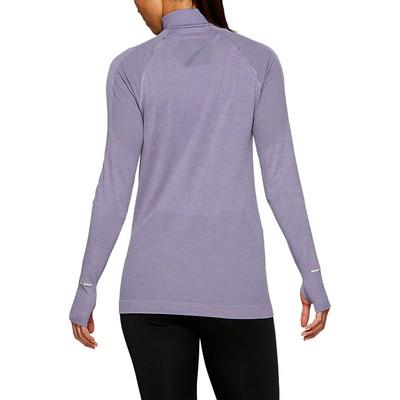 ASICS sin costuras para mujer media cremallera camiseta de running - AW19
