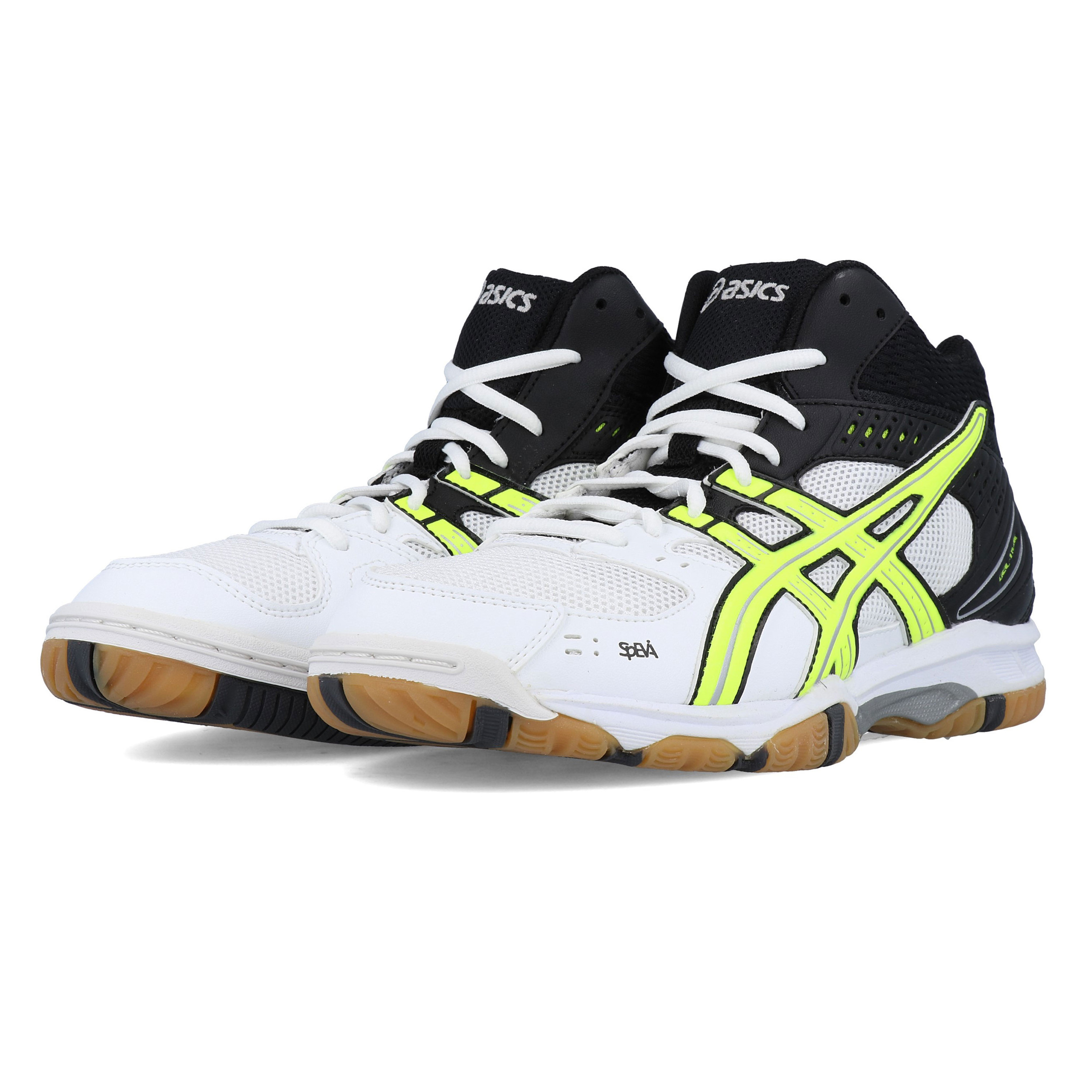 Details about Asics Mens Gel Task MT Volleyball Shoes Black White Yellow Sports Badminton