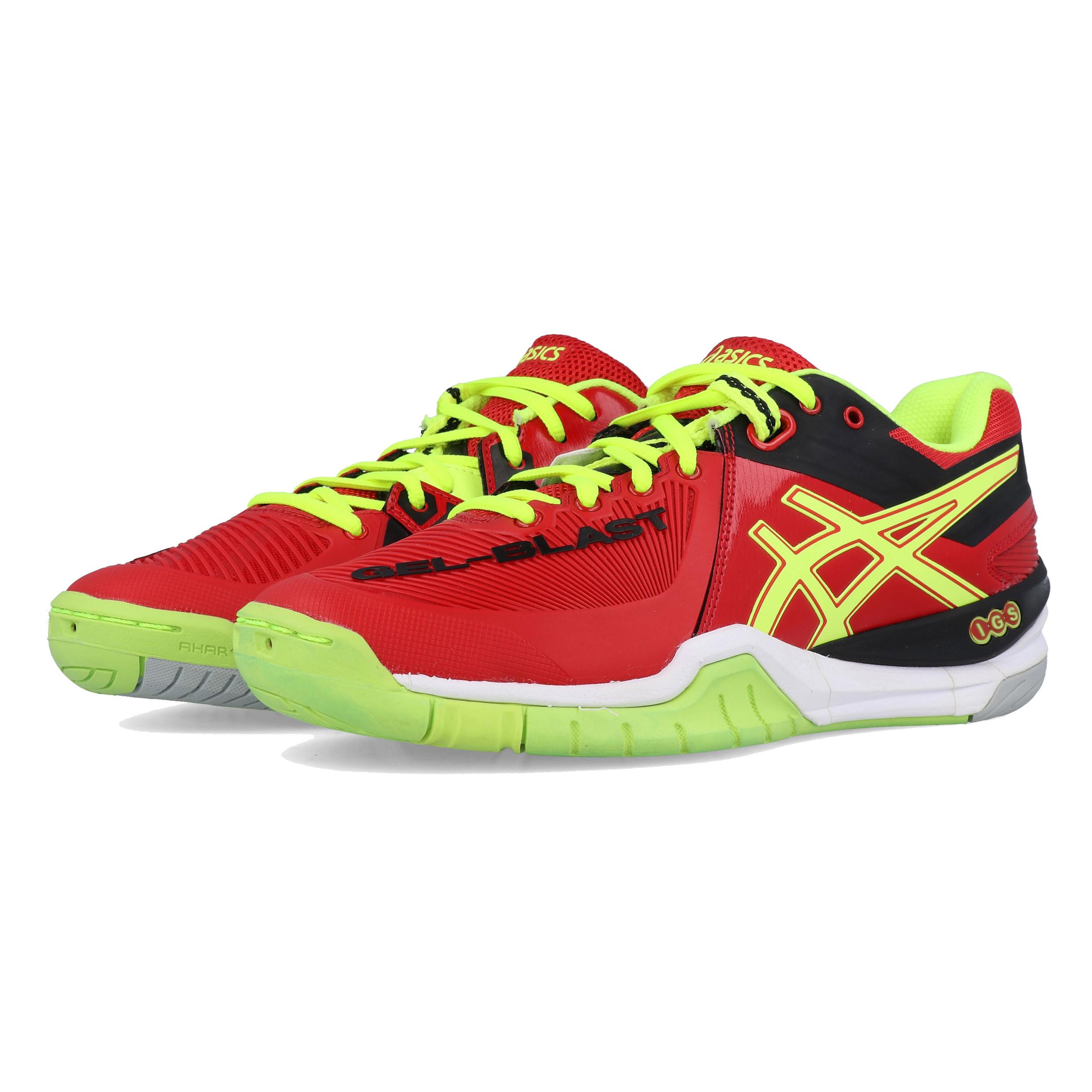 sélection premium c6815 94c1f Details about Asics Mens GEL-BLAST 6 Indoor Court Shoes Red Sports  Badminton Squash