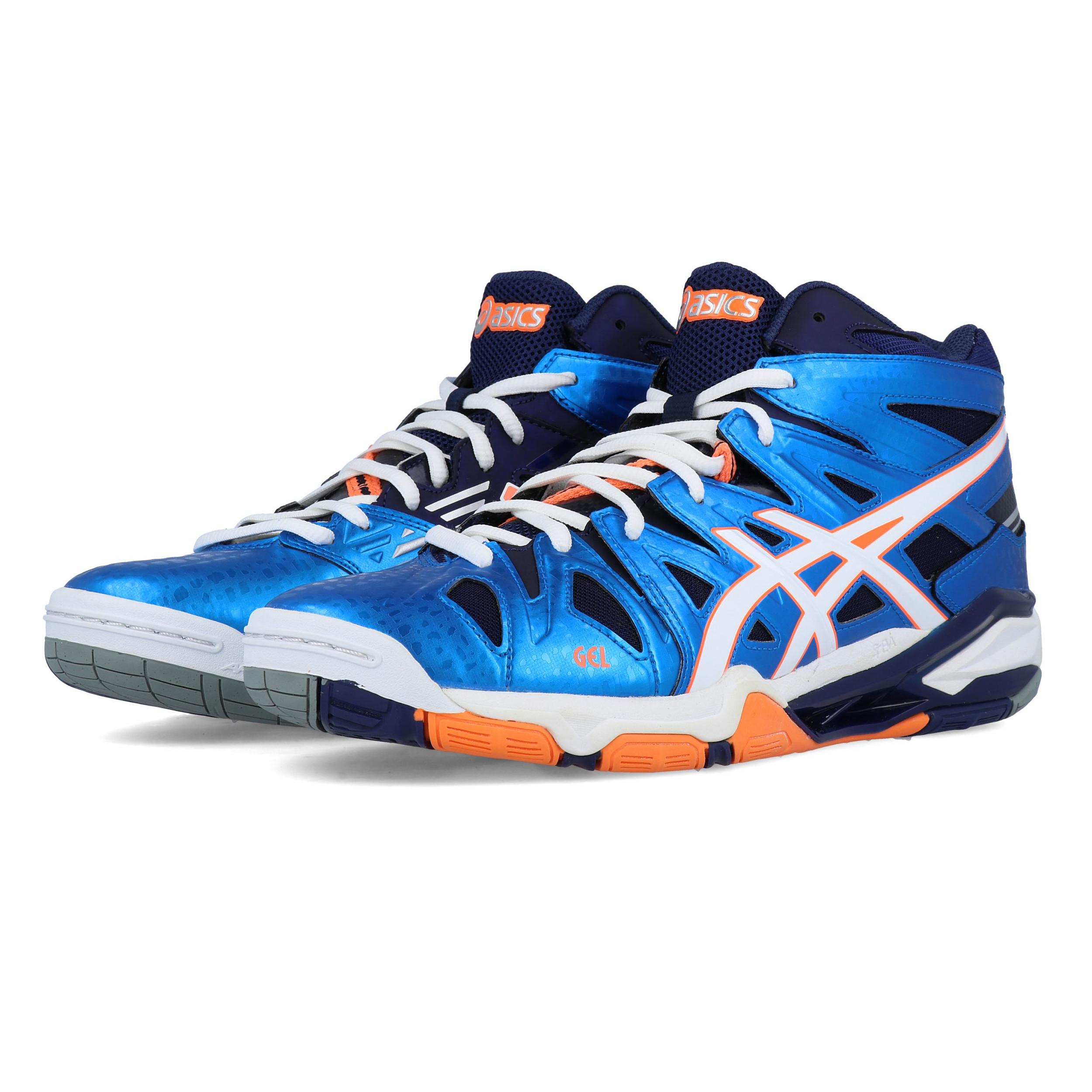 Details zu Asics Mens Gel Sensei 5 MT Indoor Court Shoe Blue White Sports Netball