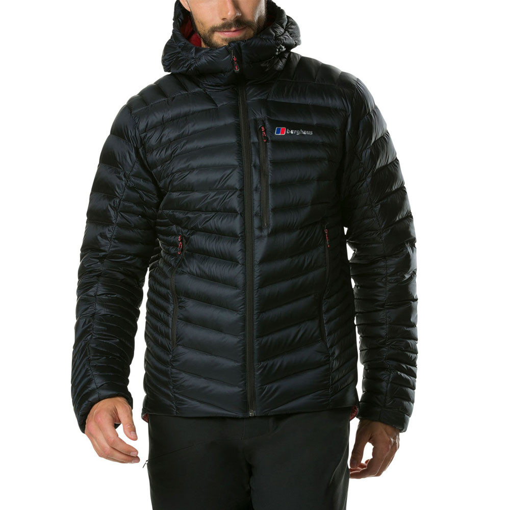 e15c9f6b3 Details about Berghaus Mens Extrem Micro 2.0 Down Jacket Top Black Sports  Outdoors Full Zip