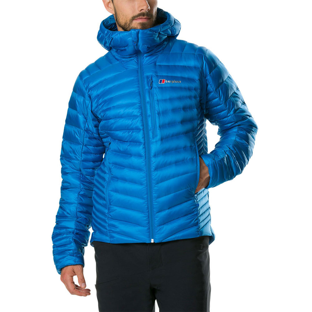 ed80fd64e Details about Berghaus Mens Extrem Micro 2.0 Down Jacket Top Blue Sports  Outdoors Full Zip