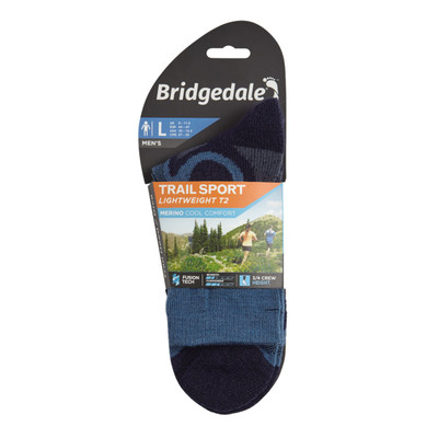Bridgedale TRAIL SPORT Lightweight T2 3/4 Crew Merino Cool Comfort - AW19