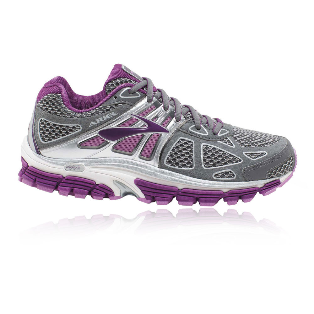 77cd16f1450 Details about Brooks Ariel 14 Womens Grey Purple Support Running Shoes  Trainers D Width