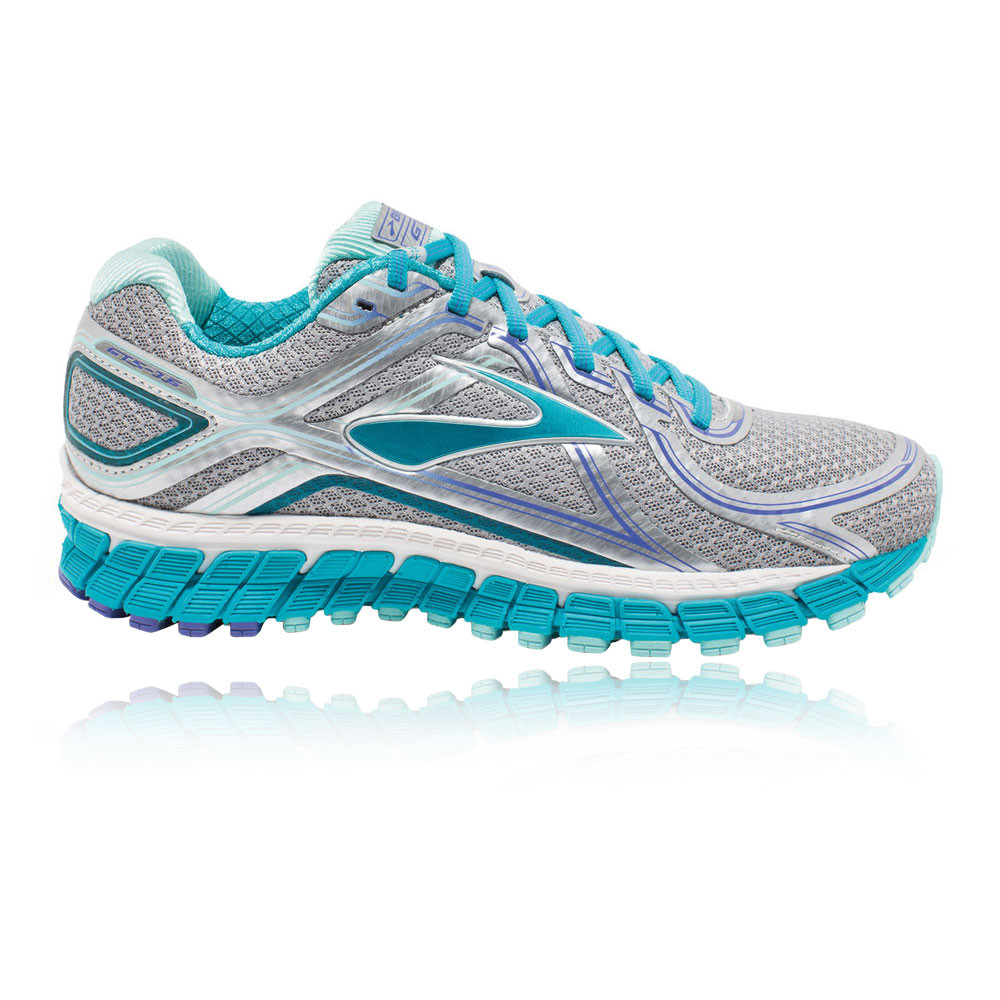 2c678bd8f8d Détails sur Brooks Adrenaline GTS 16 Womens Blue Silver Running Shoes  Trainers D Width- afficher le titre d origine