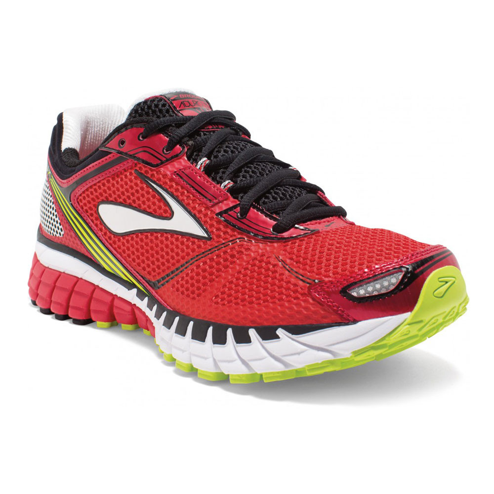 c7458c027c7 Brooks Aduro 3 Mens Red Cushioned Running Sports Shoes Trainers Pumps