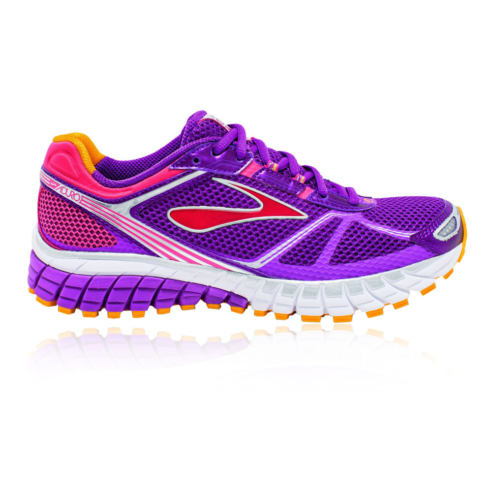 best service discount classic Details about Brooks Aduro 3 Womens Purple Cushioned Running Sports Shoes  Trainers Pumps