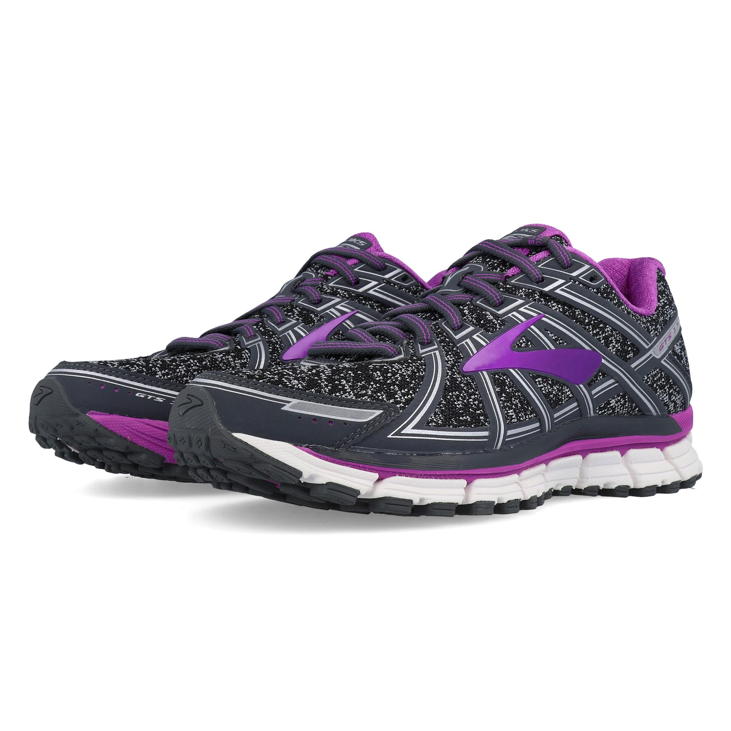 Détails sur BROOKS Femme Adrénaline GTS 17 Chaussures De Course Baskets Sneakers Noir Violet afficher le titre d'origine