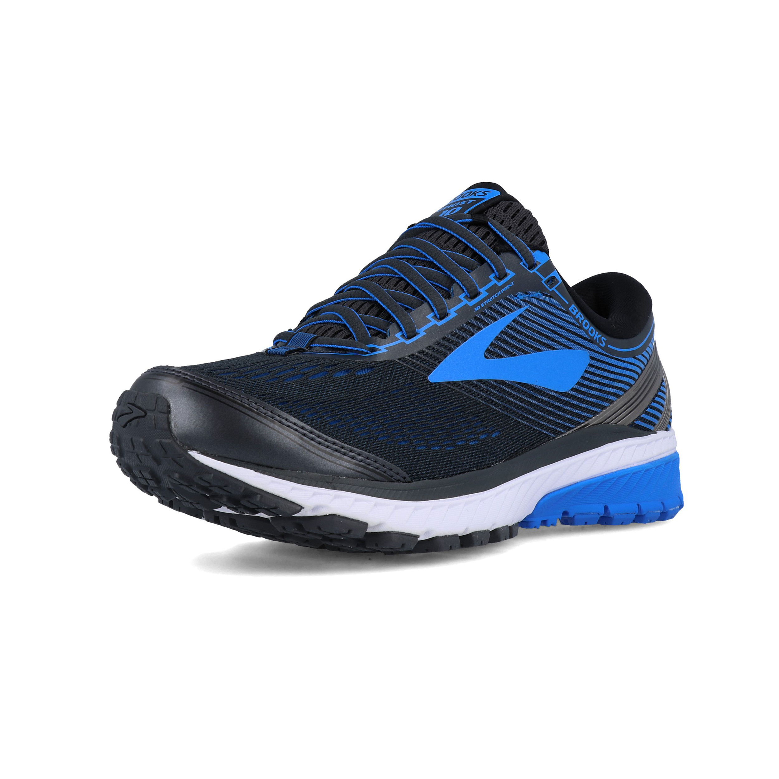 f0fbdb5e43f Details about Brooks Mens Ghost 10 Running Shoes Trainers Sneakers Blue  Navy Sports Breathable