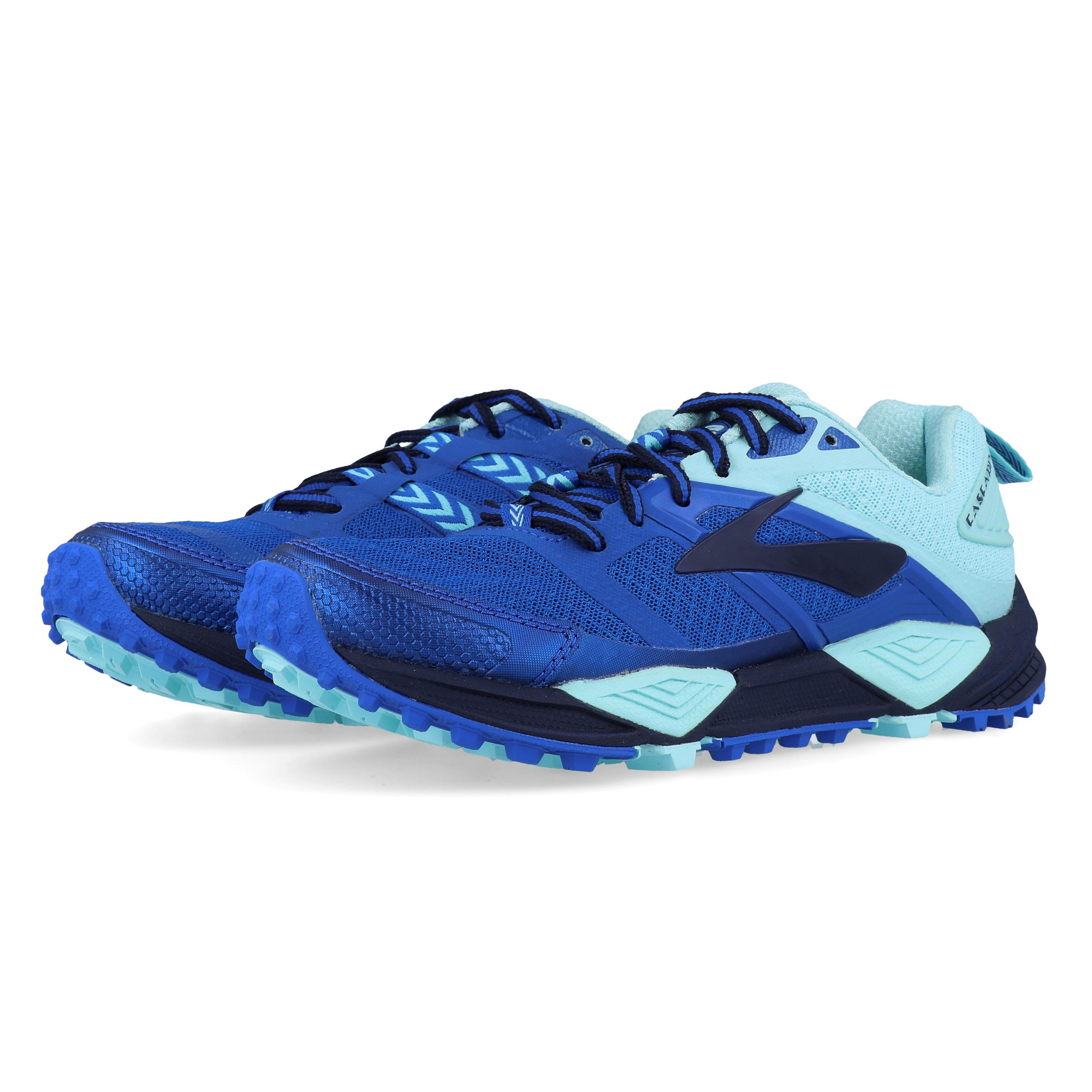 801b4a35ef0 Details about Brooks Womens Cascadia 12 Trail Running Shoes Trainers  Sneakers Blue Navy Sports