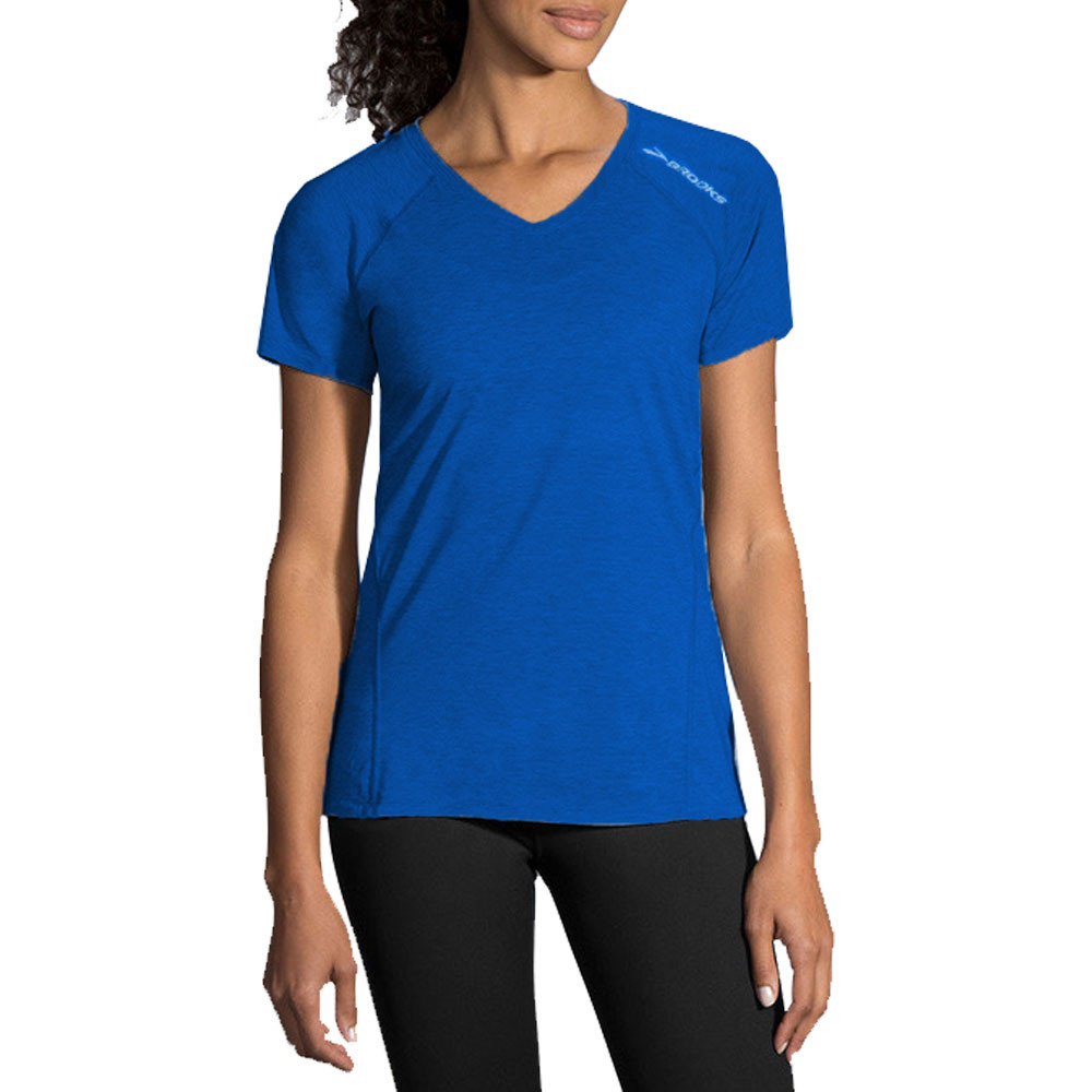 9b87a3f6cdb0 Completing the Distance Running Women's T-Shirt is a v-neck cut for a  flattering feminine fit.