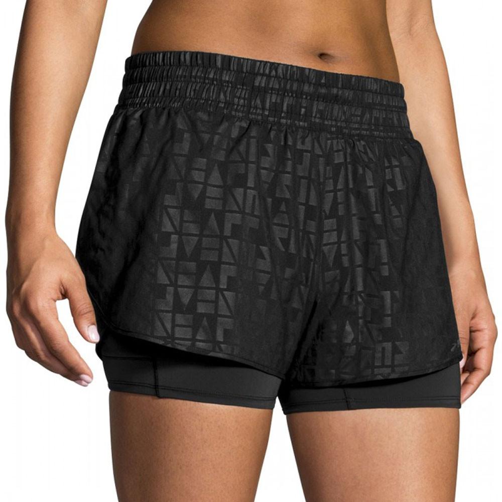 Brooks para mujer Circuit 3 pulgada 2 en 1 pantalones cortos