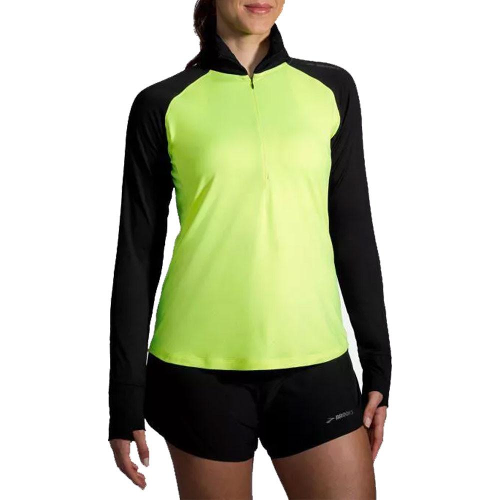 Brooks Dash para mujer 1/2 cremallera Nightlife camiseta de running