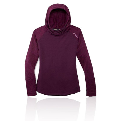 Brooks Dash para mujer Hooded camiseta de running