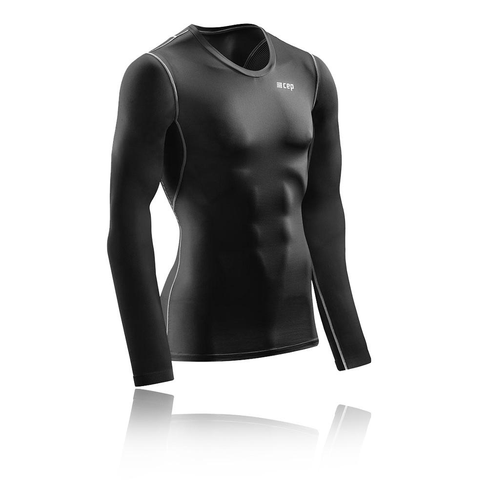 34db4584d Cep Hombre Wingtech Manga Larga Camisa Aw18 Negro Deporte Gimnasio Rugby