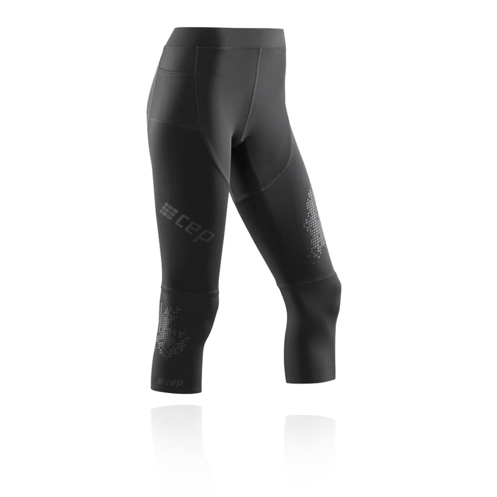 ac158ceeeb3781 CEP Womens 3/4 Run Tights Bottoms Pants Trousers 3.0 Black Sports Running
