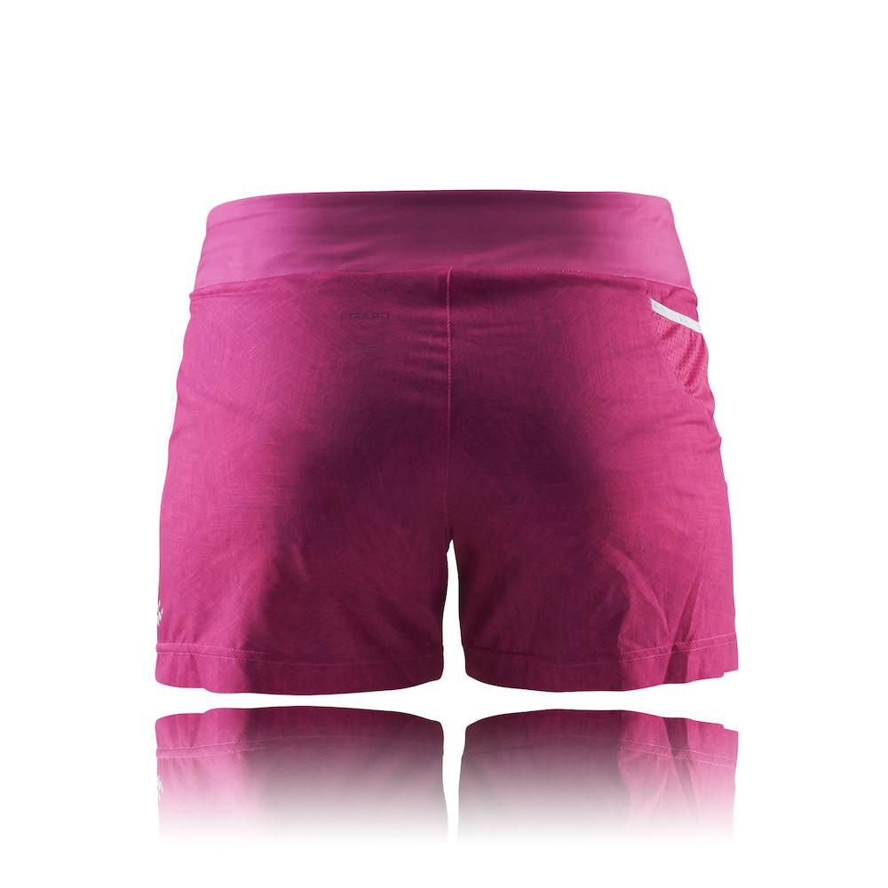 Craft Damen Joy Laufhose Jogging Shorts Sporthose Kurze Hose Funktionshose  Rosa