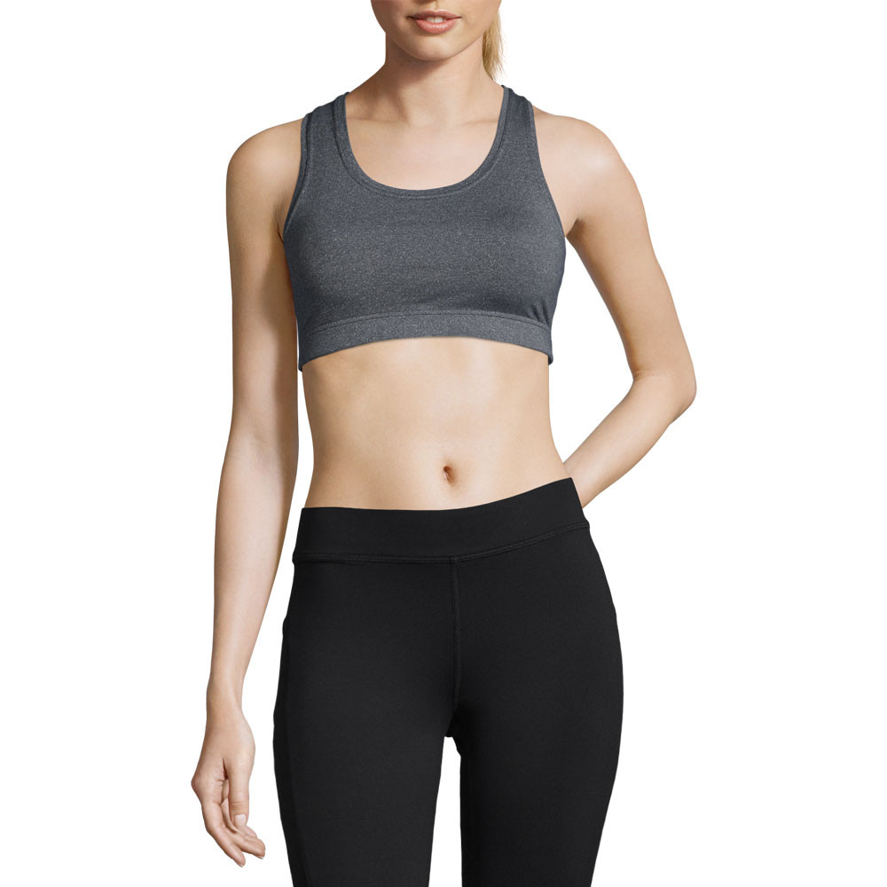 0bbef855ac573 Details about Casall Womens Iconic Sports Support Bra Top A B Cup Grey Gym  Breathable