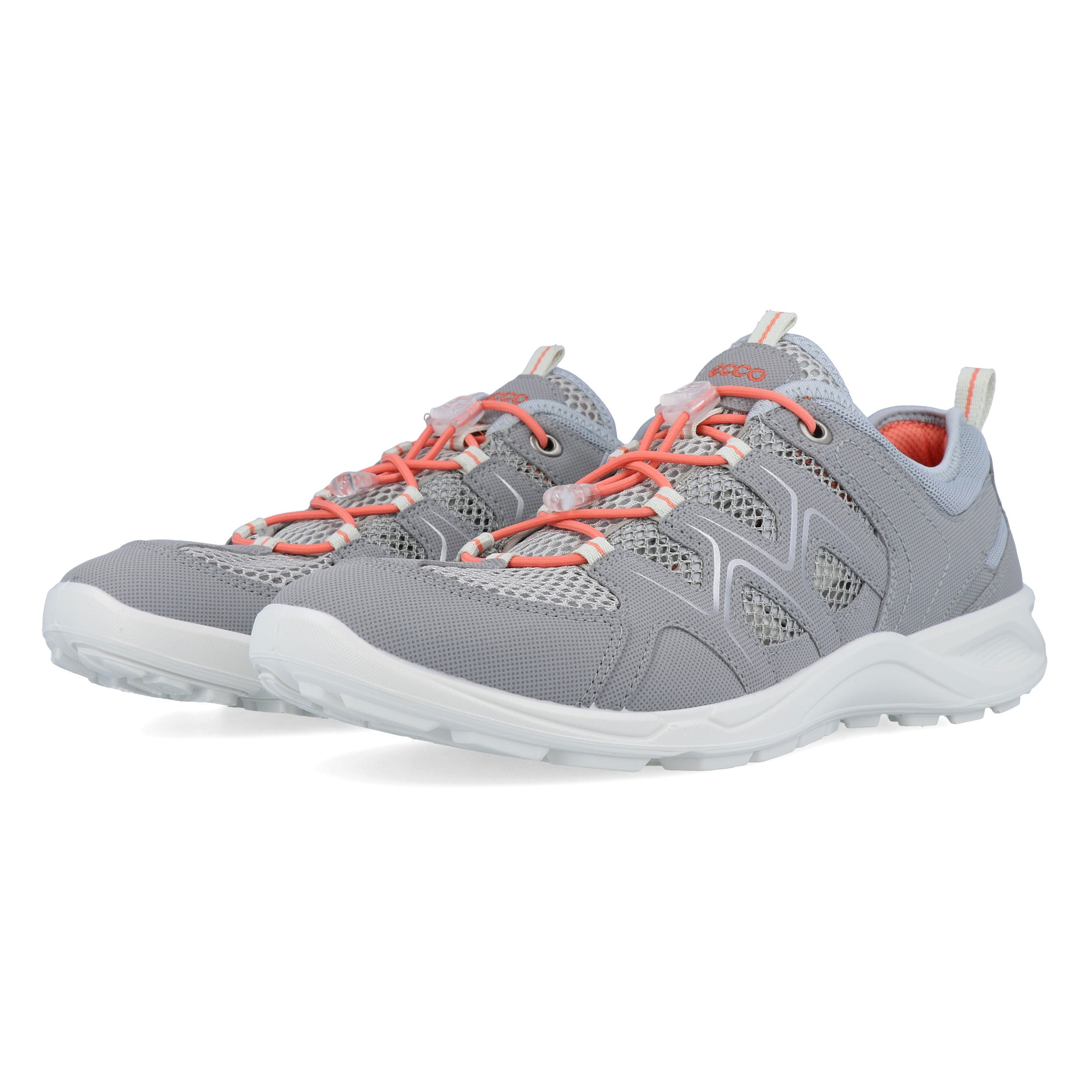 Details about Ecco Womens Terracruise LT Walking Shoes Grey Sports Outdoors Breathable