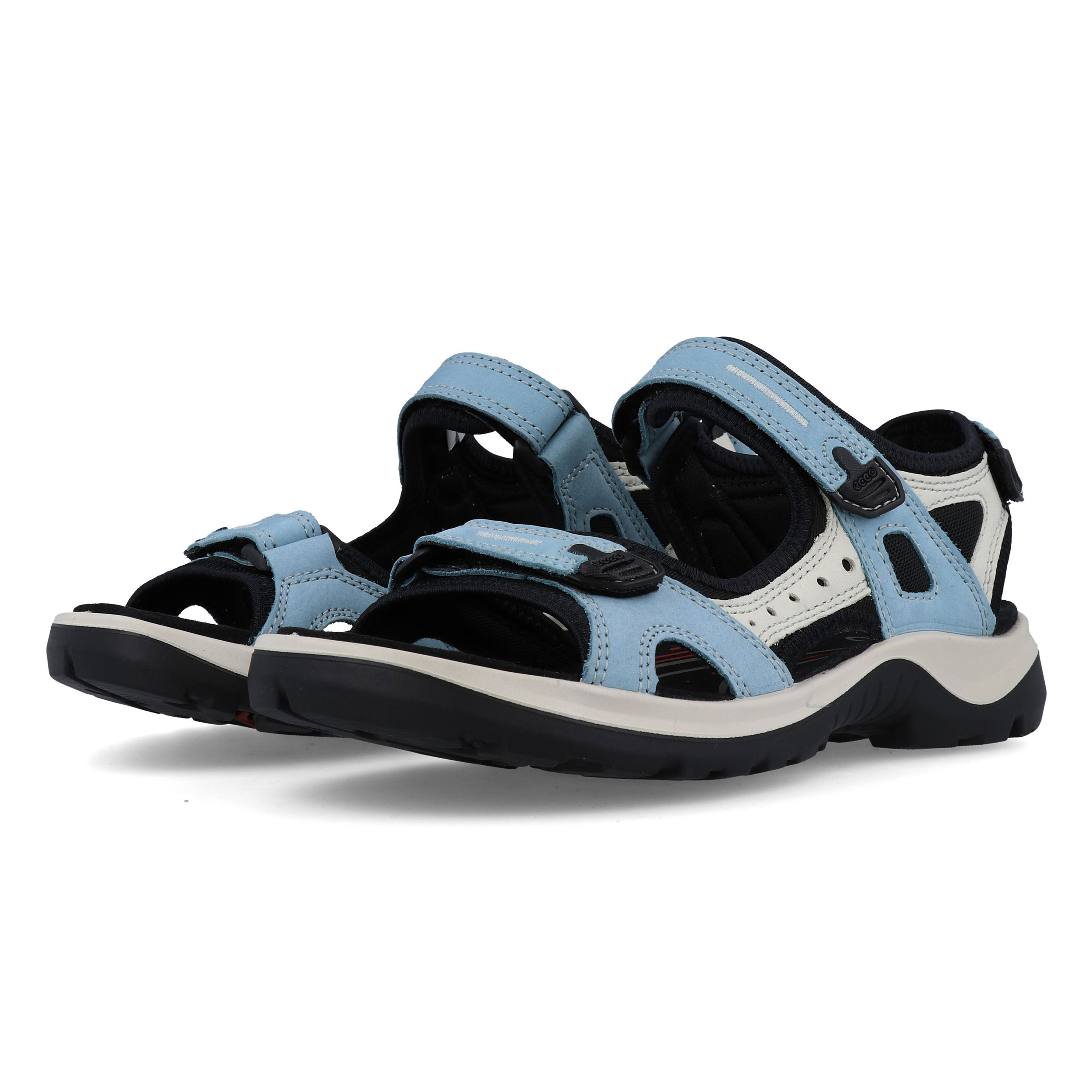 Details about Ecco Womens Offroad Walking Shoes Sandals Blue Sports