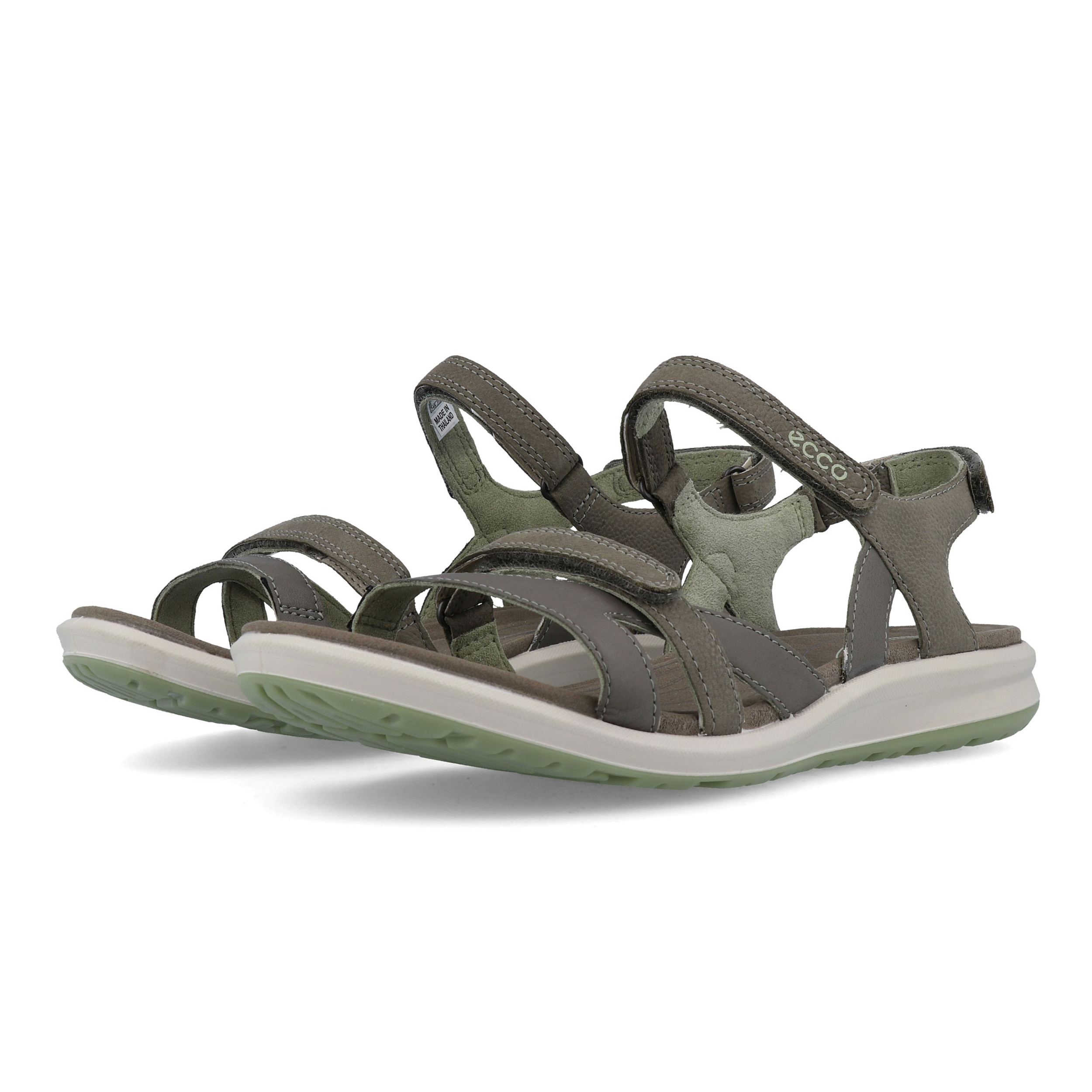 639179f3 Details about Ecco Womens Cruise II Walking Shoes Sandals Green Grey Sports  Outdoors